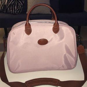 Longchamp canvas travel tote light pink 💼